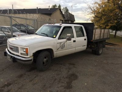 1999 GMC SIERRA C3500 DUMP BOX AS IS